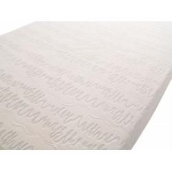 BASIC, funda tejido blanco colchón espuma cortada 88 x 195 x 14